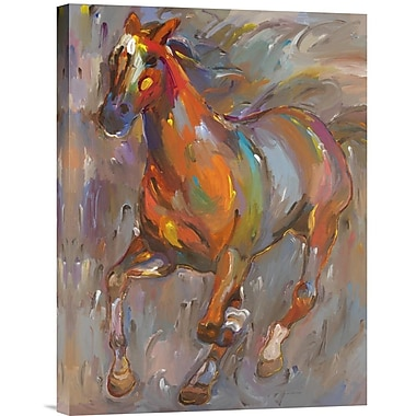 Global Gallery Stellar Steed by Hooshang Khorasani Painting Print on Wrapped Canvas