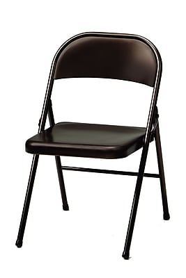 Sudden Comfort Steel Folding Chair; Cinnabar, 4/Carton