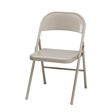 Sudden Comfort Steel Folding Chair, Buff