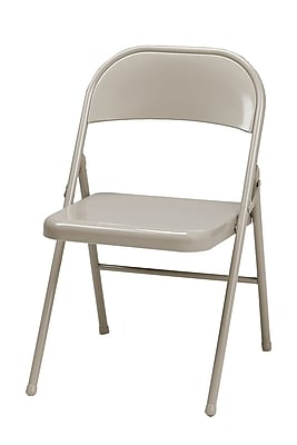 Sudden Comfort Steel Folding Chair, Buff