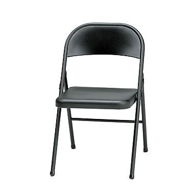 Sudden Comfort Steel Folding Chair, Black Lace