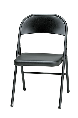 Sudden Comfort Steel Folding Chair; Black Lace