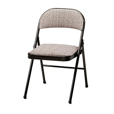 SuddenComfort Deluxe Metal & Fabric Folding Chair, Cinnabar & Motif