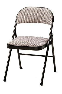 SuddenComfort Deluxe Metal & Fabric Folding Chair, Cinnabar & Motif