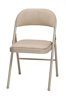 SuddenComfort Samsonite Steel Folding Chair, Buff & Sand