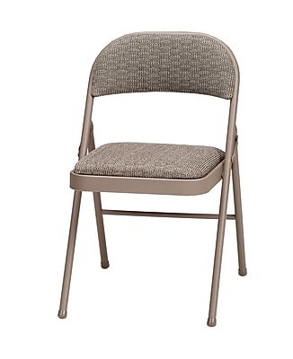 Sudden Comfort Deluxe Metal & Fabric Folding Chair, Chicory Lace & Courtyard