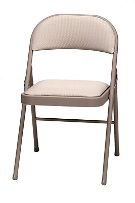 Sudden Comfort Deluxe Metal & Fabric Folding Chair, Chicory Lace & Dune