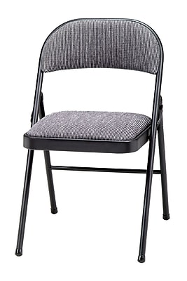 Sudden Comfort Deluxe Metal & Fabric Folding Chair, Black Lace & Mist
