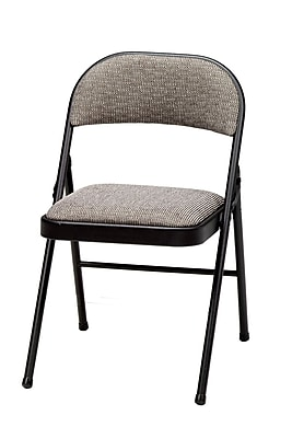 Sudden Comfort Deluxe Metal & Fabric Folding Chair; Black Lace & Courtyard