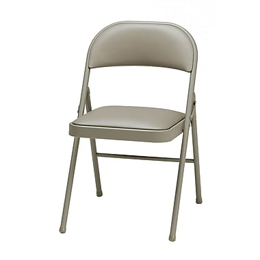 Sudden Comfort Deluxe Metal & Fabric Folding Chair, Chicory Lace & Chicory