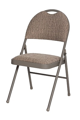 SuddenComfort Double Padded Metal & Fabric High Back Chair, Chicory Lace & Motif