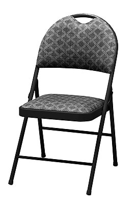 SuddenComfort Double Padded Metal & Fabric High Back Chair, Buff & Zuni