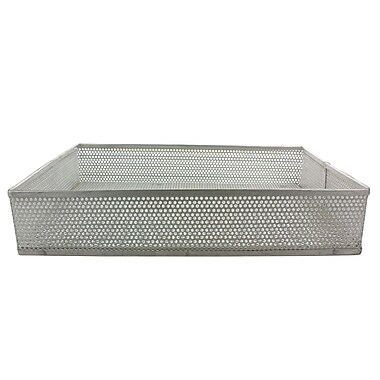 Midland Micro-Perforated Basket and Carrier, Silver