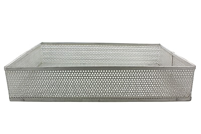 Midland Micro-Perforated Basket and Carrier; Silver