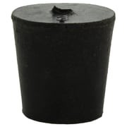 Midland Scientific Inc. Rubber Stopper with 1-hole, Size 3, Black, 35/lb