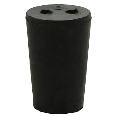 Midland Scientific Inc. Rubber Stopper with 2-hole, Size 0, 68/lb