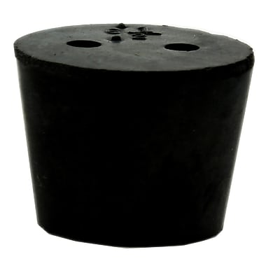Midland Scientific Inc. Rubber Stopper with 2-hole, Size 6.5 Black 17/lb (R6240-6.5 LB)