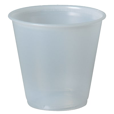 Solo Translucent Plastic Cup, 100 ml, 2500/Case 1601767