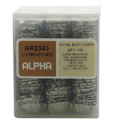 Alpha Resources Nickel Boat Liner, 100/Pack