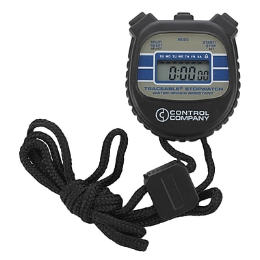 Control Company Traceable LCD Digital Stopwatch, 24 Hours