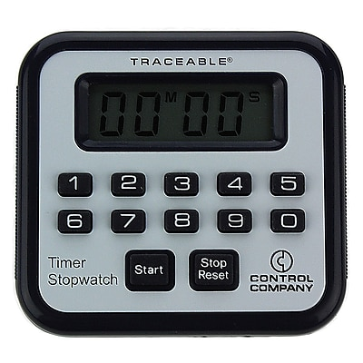 Control Company Traceable Mini-Alarm Digital Timer with Stopwatch, 100 Minutes