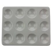 CoorsTek Porcelain Ceramic Spot Plate, 112mm x 92mm