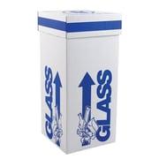 """Dynalon Products Glass Disposal Box, 20"""", White"""