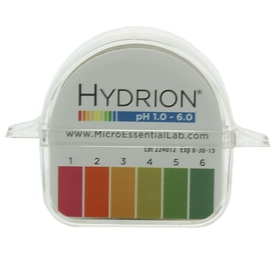 Micro Essential Lab Hydrion Double Roll pH Paper Dispenser, 1-6