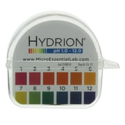 Micro Essential Lab Hydrion Single Roll pH Paper Dispenser, 1-12, 10/Carton