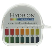 Micro Essential Lab Hydrion Single Roll pH Paper Dispenser, 0-13, 10/Carton