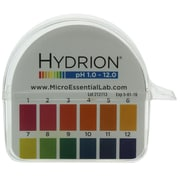 Micro Essential Lab Hydrion Jumbo pH Paper Dispenser, 1-12 (HJ600 EA)