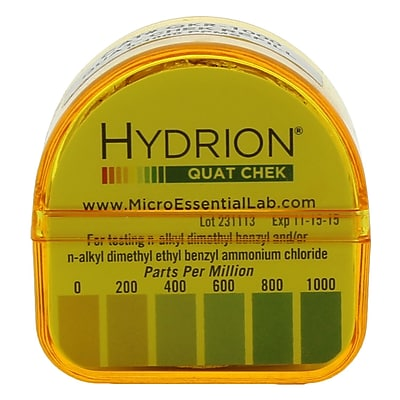 Micro Essential Lab Hydrion Refill Quaternary Check Test Paper, 10/Pack