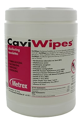 Metrex Caviwipes Disinfecting Towelette, 12/Case