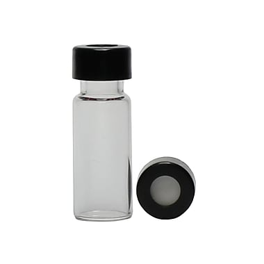 JG Finneran Vial with Black PTFE/Silicone Slit, 11mm, 1000/Case
