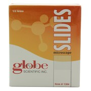 Globe Scientific Inc. One Side Frosted Microscope Slide, 75mm x 25mm, 1440/Case