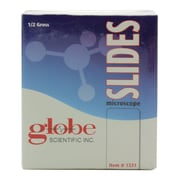 Globe Scientific Inc. One Side Frosted Microscope Slide with Clipped Corners, 75 mm x 25 mm, 1440/Case