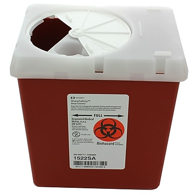 Kendall Healthcare Phlebotomy Sharps Container, 2.2 Quart, 60/Case