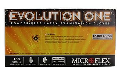 Micro flex Evolution One Latex Gloves, XL, 1000/Case