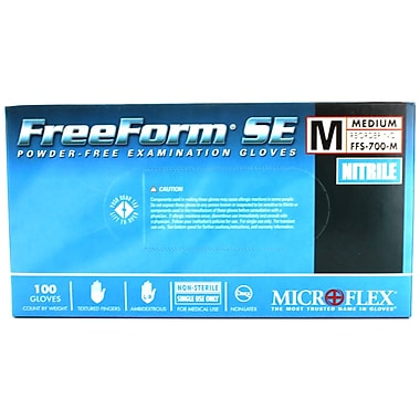Micro flex FreeForm SE Nitrile Gloves, Medium, 1000/Case