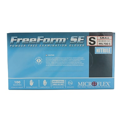 Micro flex FreeForm SE Nitrile Gloves, Small, Blue, 1000/Case