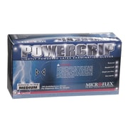 Micro flex PowerGrip Latex Gloves, Medium, 100/Pack
