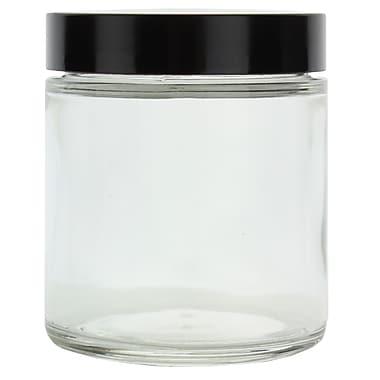 Qorpak Glass Straight Sided Round Jar with Phenolic Cap, 4 oz., 24/Case