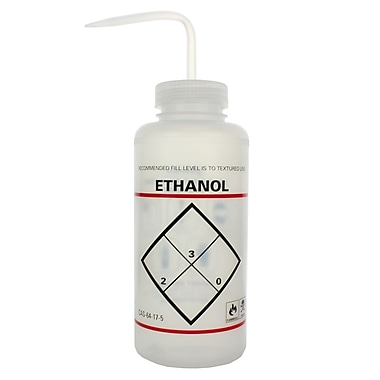 Bel-Art Products Ethanol Safety-Labeled Wash Bottle, 1000 ml