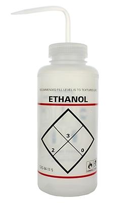 Bel-Art Products Ethanol Safety-Labeled Wash Bottle, 1000 ml