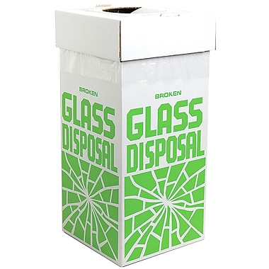 Bel-Art Products Glass Disposal Box, Floor, 6/Pack