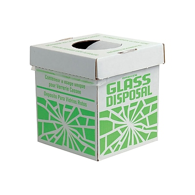 Bel-Art Products Glass Disposal Box, Benchtop, 6/Pack