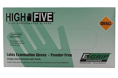High Five Gloves, Latex, 5mil, Small, Natural, 1000/case