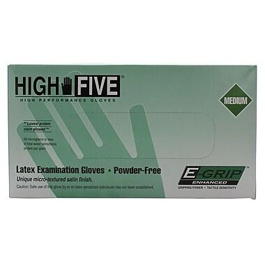 High Five Products Inc. Latex Exam Gloves, Medium, 100/Pack (HFG L972 PK)