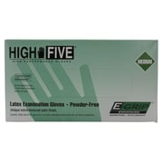High Five Products Inc E-grip Latex Gloves, Medium, 1000/Case