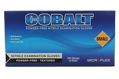 High Five Gloves, Nitrile, 4mil, Small, Cobalt Blue, 100/Pack
